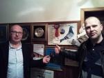 Samen met Michel Brand op bezoek bij kampioen Carlo Balboni (IT) (voorzitter duivenbond IT)